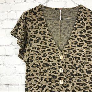 Free People Leopard Print Romper